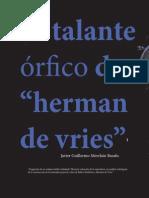 Javier G. Merchán B. - El Talante Órfico De 'Herman De Vries'