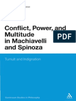 Del Lucchese, Conflict, Power and Multitude in Machiavelli and Spinoza. Tumult and Indignation