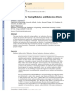A General Model for Testing Mediation and Moderation Effects