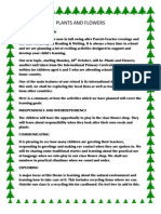 Plants and Flowers 2013 Curriculum Letter