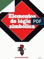 Telma Barreiro de Nudler  Oscar Nudler Elementos de Lógica Simbólica    1973.pdf
