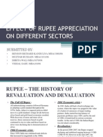 Effect of Rupee Appreciation on Different Sectors