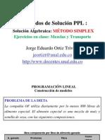 03E EjerciciosSolucionAlgebraicaMetodo SIMPLEX ProgramacionLineal JorgeOrtiz