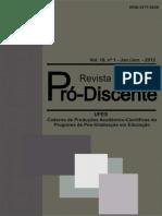 Revista Pro Discente 2012 1