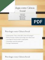 Psicologia como Ciência Social
