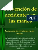 Prevención accidentes Manos