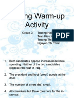 Final Writing Warm-Up Activity