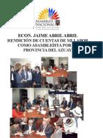 Rendición de Cuenta del Asambleista Jaime Abril Abril