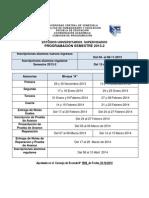 Cronograma EUS 2013-2
