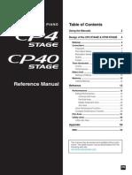 Yamaha CP4-CP40 - Reference Manual