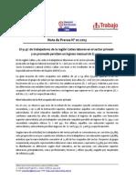 Nota de Prensa N° 02 - 2013