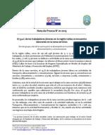 Nota de Prensa N° 01 - 2013