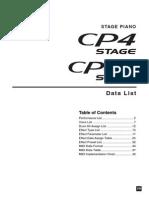Yamaha CP4-CP40 - Data List