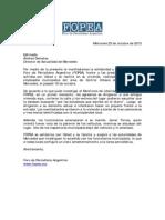 Carta de Fopea en solidaridad con Andrea Dematey