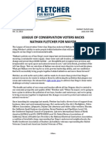 League of Conservation Voters Backs Fletcher for Mayor