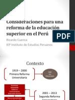 Reforma de la Educación Superior en el Perú