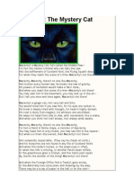 THE OLD POSSUM´S BOOK OF PRATICAL CATS - Macavity - The Mystery Cat