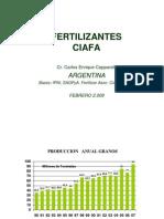 Evolucion Agricultura y Uso de Fertilizantes