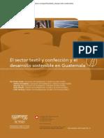 El Sector Textil y Confeccion y El Desarrollo Sostenible en Guatemala