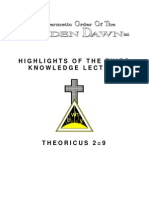 Golden Dawn 2=9 Highlights of the Third Knowledge Lecture