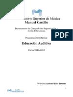 Programacion de Educacion Auditiva 2013