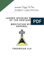 Golden Dawn 2=9 Lesser Invoking Ritual of the Pentagram