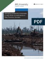 Managing peatlands in Indonesia