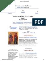Novena a San Joaquín y Santa Ana