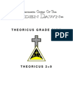 Golden Dawn 2=9 Theoricus Grade Sign