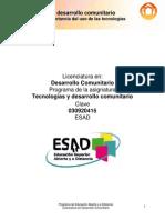 PD Tecnologías y desarrollo comunitario