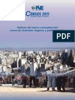 Síntesis del marco conceptual del censo de viviendas, hogares y población 2011