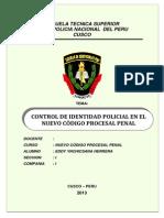 monografia de CONTROL DE IDENTIDAD POLICIAL EN EL NUEVO CÓDIGO PROCESAL PENAL