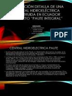 Descripcion Detalla de Uan Central Hidroelectrica Del Ecuador