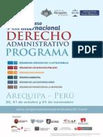 Programa Congreso Internacional Derecho Administrativo 2013