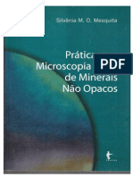 Práticas em Microscopia Ótica de Minerais Não Opacos - Silvânia M. O. Mesquita