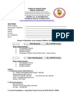 Form Pendaftaran Peserta Annual Workshop