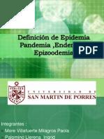 Defincion de Epidemia Pandemia Endemia y Epizoodemia