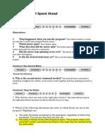 marked work-sheet full speed ahead