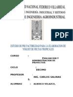 Evaluacion y Administracion de Proyectos Final