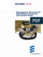 Eberspacher Airtronic D2 Instructions