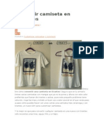 Convertir Camiseta en Tirantes