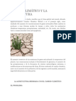 CAMBIO CLIMÁTICO Y LA AGRICULTURA