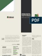 Resumen Programa FEUAH 2014 - Abajo y a la Izquierda