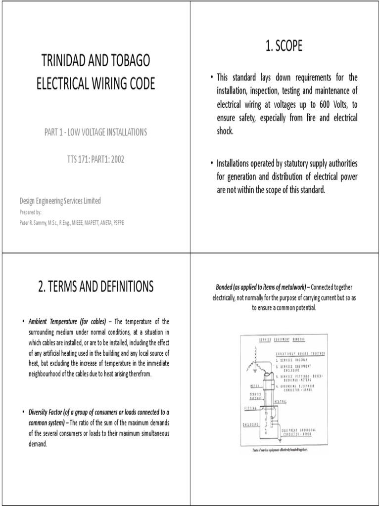 Groovy Trinidad And Tobago Electrical Wiring Code Pdf Electrical Wiring Wiring Digital Resources Millslowmaporg