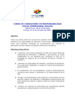 Programa Curso Rse Bolivia