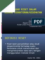 Metlit-03 Dasar-dasar Penilitian dalam Bidang Kedokteran -  Prof. Dr. Rianto Setiabudi, SpFK.ppt
