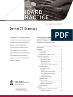 RCDSO Standard of Practice Dental CT Scanners