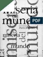 Bourdieu-La Miseria Del Mundo