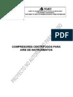 PROY-NRF-275-PEMEX-2011 Compresores centrífugos para aire de instrumentos.