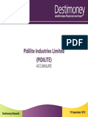 Destimoney Pidilite Industries Limited Pdf Expense Investing Free 30 Day Trial Scribd